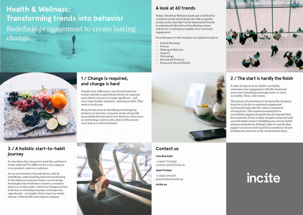 Incite   Health & Wellness: Transforming trends into behavior - Incite